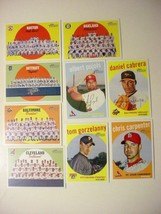 (9) 2008 Topps Heritage Baseball Cards-ex/mt stars-Teams-Short Print - $10.50