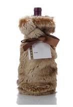 David Monn for Winter Lane Ombre Fox Faux Fur Wine Gift Bag - $13.85