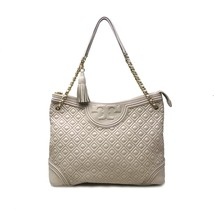 Tory Burch 31426 Fleming Tote Lambskin Leather Large Women's Bag - $299.00