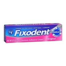 Fixodent Denture Adhesive Cream Original 0.75 OZ - Buy Packs and SAVE (Pack of 2 - $9.78