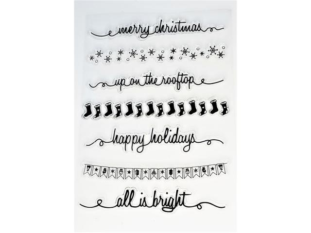 Christmas Borders Clear Stamps, Set of 7