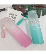 KPOP EXO Water Cup For Life Gradient Glass Bottle Frosted Drink XIUMIN D... - $10.59