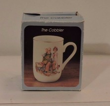 Set of 4 Norman Rockwell Museum Collection Coffee Cups Mugs Gold Trim 19... - $14.85