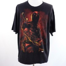 Marvel Dead Pool Black Graphic T Shirt Mens Sz 2XL - $22.16