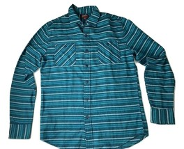 Arizona Jean Co. Long Sleeve Button Up Shirt Mens Sz S Green Multi Color Striped - $12.18