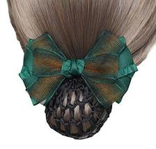 Elegant Fashion Hair Net Bowknot Hair Clips Spring Clip 2 pieces, GREEN - $329,33 MXN