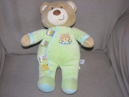 Mary Meyer Taggies Rubacub Stuffed Plush Musical Wind Up Teddy Bear Green Tags - $42.31