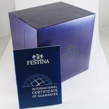 FESTINA WATCH QUARTZ MOVEMENT, 42 MM CASE, 3 ATM, BLACK FACE, LEATHER BAND image 3