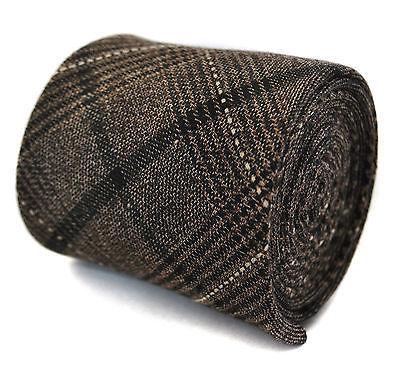Frederick Thomas CUIVRE Coloré à carreaux laine tweed Cravate hommes ft2044