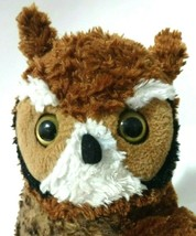 "Wild Republic Large Great Horned Owl Plush Stuffed Animal Bird Brown 12"" - $18.69"