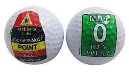 Key West Florida Souvenir Golf Ball Set Southernmost Point and Mile 0 Gi... - $18.97