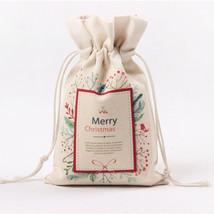 Bag Candy Canvas Pouch Gift Bag Holder Christmas Linen Sack Drawstring J... - €4,85 EUR
