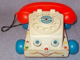 Fisher Price Pull Toy 1961 Talk Back Telephone no 747  - $9.95