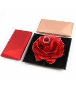 Foldable Rose Ring Box For Women Creative Jewel Storage Case Gift Box Fo... - $4.23+