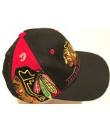 Chicago Blackhawks Hockey NHL Adult Unisex Black Team Logo Baseball Cap ... - $12.86