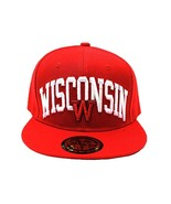 Wisconsin Men's City Name Adjustable Snapback Baseball Cap (Red) - $13.75
