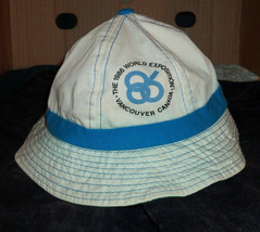 VINTAGE EXPO 86 VANCOUVER BRITISH COLUMBIA Cotton Sun Hat - $7.91