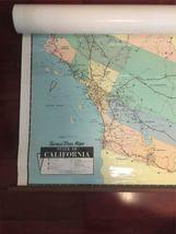 "Vintage 1989 Large Wall Thomas Bros California State Freeway Artery Map 68""x54"" image 4"
