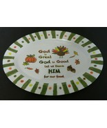 Stradivo Melamine Thanksgiving Serving Platter Pumpkin Turkey Fall Leaves - $19.68