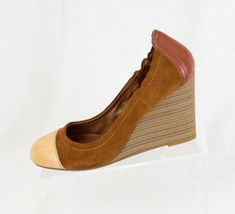 EU M 9 Blue 40 Brand Wedge Jean America Beige Heel Brown Lucky Shoes qAwPEEt