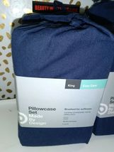 Made By Design Solid Easy Care Pillowcase Set (King) Blue Amethyst NEW! STORE image 3