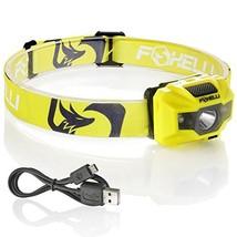 Foxelli USB Rechargeable Headlamp Flashlight - 180 Lumen, up to 40 Hours... - $23.10