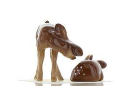 Hagen Renaker Miniature Deer Sister Doe & Sleeping Fawn Ceramic Figurine Set image 7