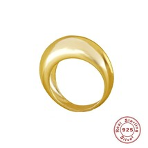 CANNER Bright Surface Versatile Simple Ring S925  Silver  Fine Jewelry  ... - $30.58