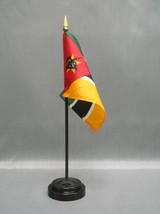 "MOZAMBIQUE 4X6"" TABLE TOP FLAG W/ BASE NEW DESK TOP HANDHELD STICK FLAG - $4.95"