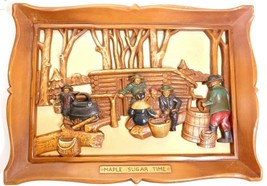 "3-D WALL HANGING PLAQUE ""MAPLE SUGAR TIME"" - $14.77"