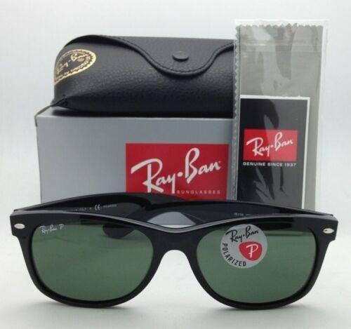 Neu Ray-Ban Sonnenbrille Neu Wayfarer RB 2132 901/58 55-18 Schwarz mit / Grün