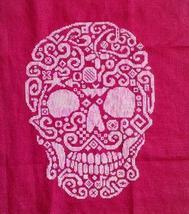 Tribal Skull monochrome cross stitch chart White Willow Stitching - $9.00