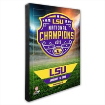 LSU Tigers 2019 NCAA Football Champions - 16x20 Photo on Stretched Canvas - $75.95