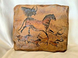 Bradford Exchange The Dawn of Man Running Galloping Mare Stone Tile Wall Plaque - $35.00