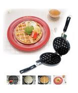 Belgium Waffle Iron frying pan Round frying pan - $42.15