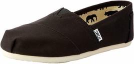 Neu Toms Damen Der Venezien Sammlung Klassisch Schwarz Leinen Schlupf Schuhe image 2
