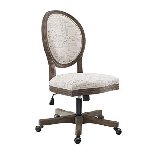 Linon Home Décor OC098SCPT01U Brea Script Office Chair, White - $358.79