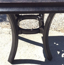 """Patio end table 24"""" square outdoor cast aluminum accent pool side furniture. image 7"""