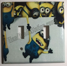 Minions Help me up Light Switch Power Duplex Outlet Wall Cover Plate Home decor image 3