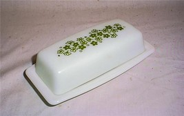 VINTAGE PYREX SPRING BLOSSOM CRAZY DAISY BUTTER DISH 72-B - $20.84