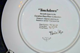 """""""Touchdown"""" Carefree Days Plate Collection by  Thornton Utz AA20-CP2323 Vintage image 4"""
