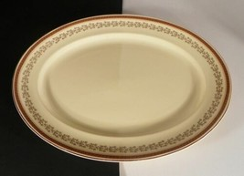 Johnson Brothers Victorian JB189 Oval Serving Platter Greek Key Tan Flor... - $24.70