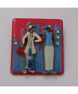 Woman Pins by Lucinda ~ Two Woman Pin ~ Fundraising Pins ~ Red White & B... - $13.00