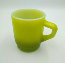 Vintage Anchor Hocking Fire-King 50 Green Fading Stackable Coffee Mug - $12.00