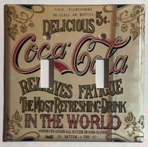 Coke Coca-Cola Delicious Poster Light Switch Outlet wall Cover Plate Home Decor image 4