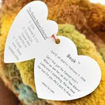 1998 TY Beanie Baby Beak the Kiwi Bird Beanbag Plush Toy Doll image 7
