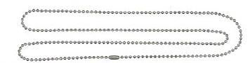 """BALL CHAIN Necklaces~Lot of 75 ~24"""" Long~NPS~2.4mm bead"""