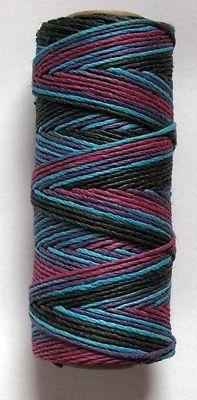 2 rolls 1mm WARM RUSTIC BLEND HEMP CORD 205 ft per Spool Black/Blue/Plum/Purples
