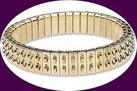 2 Gold Plated Stainless Steel Expansion Bracelets 2-row Loops Cha-cha expansion image 1