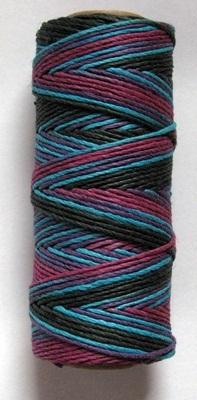 2 rolls 1mm WARM RUSTIC BLEND HEMP CORD 205 ft per Spool Black/Blue/Plum/Purples image 3